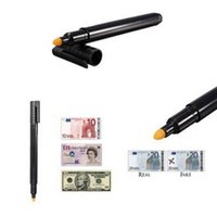 Wholesale Details about Black Money Checker Counterfeit Detector Marker Fake Banknotes Tester Pen