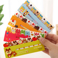 Wholesale 10 sets Kawaii Cute Post It Bookmark Marker Memo Pad Sticky Notes Label Paper Stickers Notepad Stationery