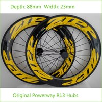 Wholesale Top Quality K Carbon Wheels Zip Road Bike C mm Width mm Depth Rims Powerway R13 Hubs Tubular Clincher Tire Lightweight Wheels
