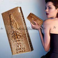 b purses - Fashion Women Wallet Coin Purses Holders Brand Genuine Leather D Embossing Alligator Ladies Crocodile Long Clutch Wallets Z270 B