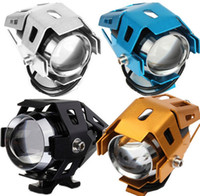 Wholesale 125W Color Motorcycle LED Headlight LM CREE LED Chips U5 Motorcycle Waterproof Driving Fog Spot Head Light Lamp Switch