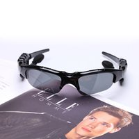 Wholesale Smart Glasses Black Sunglass Sun Glass Sports Headset MP3 Player bluetooth phone bluetooth eyeglasses