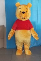 Wholesale 0524 adult yellow winnie the pooh mascot costume with mini fan inside the head for sale