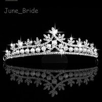 best romantic shipping - Classic Rhinestone Crystal Pearl Tiara Bridal Wedding Cown High Quality Hair Accessories Factory Best Price Headpiece Hairwear