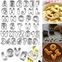 alphabet cutters for cake decorating - Alphabet Letter Number Cake Cookie Decorating Cutter Mold Set perfect for cutting cookies biscuits fruit cake