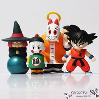 Wholesale 2016 Naruto set Dragon Ball Son Goku Master Roshi Fortuneteller Baba Crane Hermit Action Figure Toy Pvc Collective Dolls