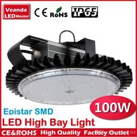 Wholesale Industrial lighting canopy lights finned radiator W LED high bay light for warehouse lamp High brightness Epistar SMD Chip AC85 V IP65
