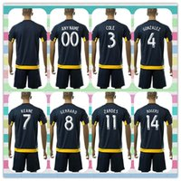angeles kit - New Uniforms Kit Soccer Jersey Los Angeles Galaxy COLE KEANE GIOVANI ZARDES GERRARD Away Dark Blue Jerseys Shirt