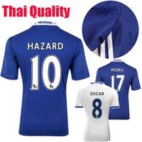 Wholesale Chelsea Jersey Football Shirt jersey Willian HAZARD Pedro OSCAR DIEGO COSTA jersey Shirt jersey