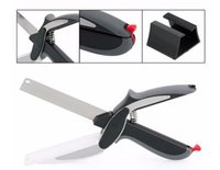 Wholesale 2016 Hot in Kitchen Smart Scissors Knife Set With Mini Cutting Board Clever Cutter from faststep DHL