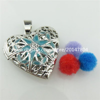 aroma pictures - 3X Dull Alloy mm Enamel Blue Flower Aroma Diffuser Heart Photo Picture Locket