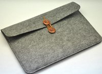 Wholesale New Cross section felt laptop bag quot notebook computer bag case drop shipping Can be customized adding logo