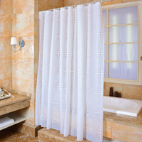Wholesale 2016 New Style White PEVA Material x180cm Bathroom Accessories Shower Curtain Waterproof Mildew Proof Bath Curtains