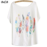 basics feathers - spring summer white basic t shirt women plus size tops tee casual loose shirts women d feather print t shirts