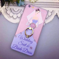 apple wedding ring - Iphone s Case Wedding Suit Bride Beauty Girl Colorful Phone Case with Ring Kickstand for Iphone s SE Iphone s plus