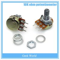 Wholesale High Quality WH148 B10K Linear Potentiometer mm Shaft With Nuts And Washers Hot for Arduino