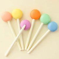 Wholesale 15pcs Mini Lollipop Gel Pens Black Ink Pen Writing Pens Cute Prize Gifts Stationery