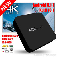 Cheap Smart Rockchip RK3229 MXQ 4K TV Box KODI 16.1 Fully Loaded H.265 4K 60tps Support 1080P HD Media Player Android TV Boxes Remoted MXQ-4k