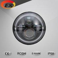 angle eyes headlight - High quality high lumens V DC inch round w Jeep led headlight with angle eye