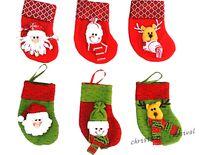 Wholesale Christmas ornament scene red mini socks