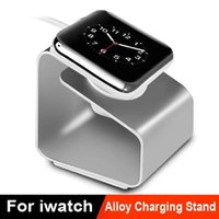 Wholesale Aluminum Alloy Apple Watch Stand Desktop iWatch Wireless Charging Docking Station Holder mm mm