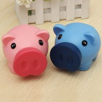 Wholesale New Portable Cute Plastic Piggy Bank Saving Cash Coin Money Box Children Toy Kids Gifts Home Collection Colors