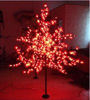 Wholesale Free ship M FT height RED LED Maple Leaf Tree Light Outdoor Wedding Garden Holiday Christmas decor LEDS