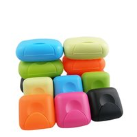 Wholesale 120pcs Creative candy color Soap Box with Cover Leak proof Portable Soap Dishes Plastic Soap Container WA0595