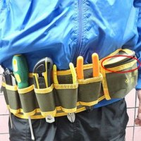 Wholesale top quality pocket Canvas tool bags big size electrician waist bag multifunctional utility tool pack with belt