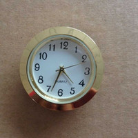 clock inserts - 37mm cheap and gold quality ni clock gold metal fit up clock insert clock arbic numerals mini insert clock