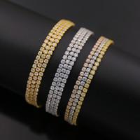 Wholesale Tennis bracelet AAA Cubic Zirconia Three Line Tennis bracelet