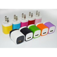 Wholesale Wall Home Charger Power Adapter Full V A Colorful USB Charger For Samsung S6 S6 Edge Note US Version EU Version