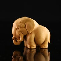 african wood carvings - boxwood sculpture African animal small home decoration rhino hippopotami elephantdecoration crafts gift wood carving