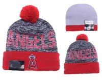 angels beanies - Los Angeles Angels Baseball Beanies Team Hat Winter Caps Popular Beanie Caps Skull Caps Best Quality Sports Caps Allow Mix Order