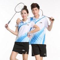 Wholesale New Arrival Breathable Quick Dry Badminton T Shirts For Men And Women Couples Sport Suit Badminton Clothing Sets