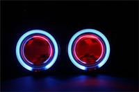 Wholesale 2 quot CCFL Angel Eye Lights Hid Xenon Lamp H4 H1 H7 Retrofit Headlight Bifocal Lossless Angel Devil Eyes Projector