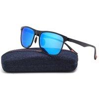 aluminium frame glass - New Aluminium Polarized Sunglasses Fashion Retro Driving Mirrored Eyewear Mens Outdoor Driving Fishing UV400 Glasses Shades LM2349