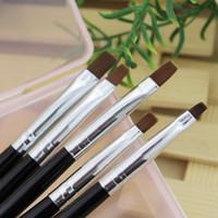 Wholesale Flat UV Gel Acrylic Nail Brush Set Art Painting Pen Design Builder Salon Tip DIY Tools
