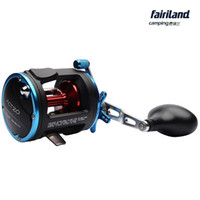 Wholesale 4BB RIGHT HAND Fairiland Drum Trolling Reel Kg Drag Power Boat Fishing Reel Colors A B Avail Saltwater Freshwater