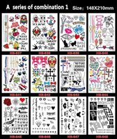 Wholesale 12pcs Waterproof Temporary Tattoos Large Arm Fake Transfer Body Art Tattoo Stickers Size X21cm Style