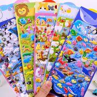 Wholesale 3D Cartoon Bubble Stickers Sheet Cute Puffy Stickers Animal Bubble Stickers Kids Boys Girls DIY Toys Birthday Gift Toy XQ21