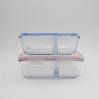 Wholesale comparment heat resistant glass lunch box ml