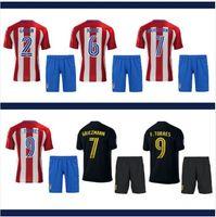 best soccer fans - Atletico Madrid best Thai Quality adult Soccer Jerseys men Football shirt De Foot Red white fans version