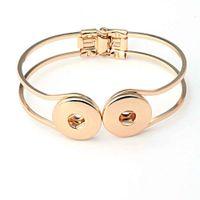 Wholesale High Quality Noosa cuff Bangles silver gold plated bracelets fashion brand designer bangle wedding jewelry for women girls