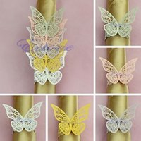 Wholesale New Colors Butterfly Napkin Rings Wedding Holder Bridal Shower Favor