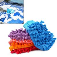 Wholesale Shipping Hot Super Mitt Microfiber Car Wash Washing Cleaning Gloves Car Washer EA10441