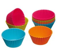 Wholesale New Arrival Set Cake Cup of Bakeware Kitchen Craft Color works Silicone Cupcake Cases forma silicone Cake Decorating Tools