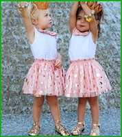 animal print party dresses - 2016 princess girls party dresses child baby girls polka dot sequined bow print sundress children clothing set vestidos