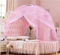 Wholesale 2016 New Fine Mesh Mosquito Net Yurt Good Sleep Mosquito Nets For Double Bed Netting With Zipper Double Door