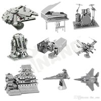 Wholesale Fancy D Metal Laser Cut Assembly Model D Metallic Nano Puzzle Toys Star Wars Musical Instrument D Building Puzzle Christmas Gifts M15